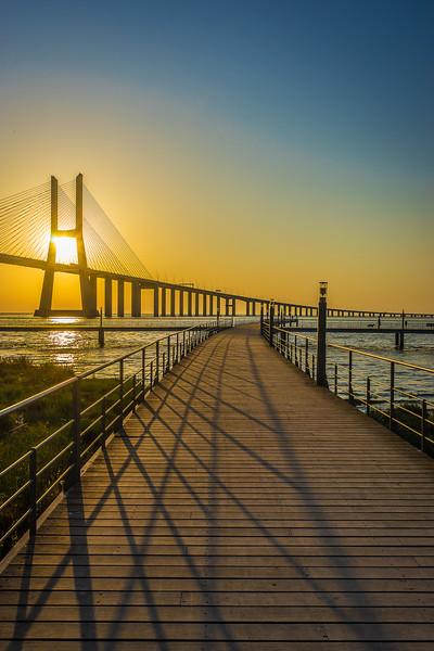 Original Lisbon Vasco da Gama Bridge Photography By Messagez com