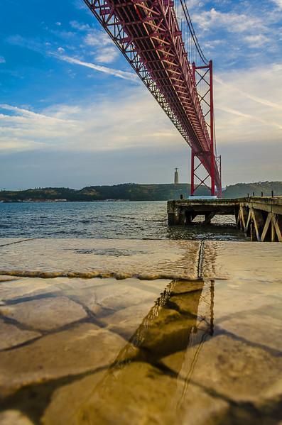 Under The Lisbon Bridge Reflection Fine Art Photography 2 By Messagez com