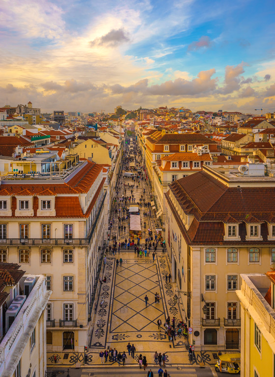 Lisbon Triumphal Arch Viewpoint Sunset Photography 7 By Messagez com