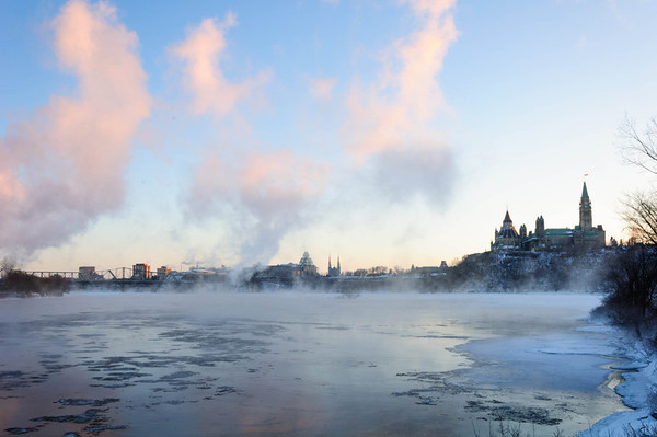 Cold morning in Ottawa