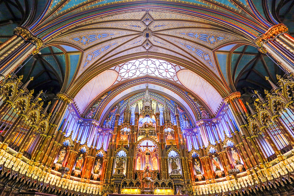 Notre-Dame Basilica, Montreal, Quebec, Canada.