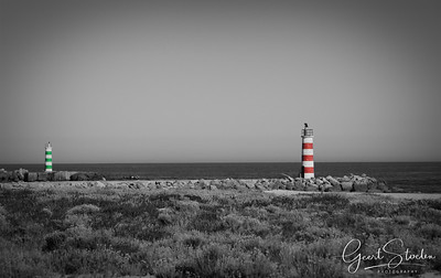 Lighthouses at Faro, Portugal