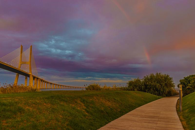 Original Lisbon Portugal Bridge Rainbow Art Photography 41 By Messagez com