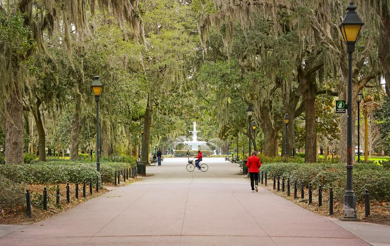 Forsyth Park, Savannah, GA, USA.
