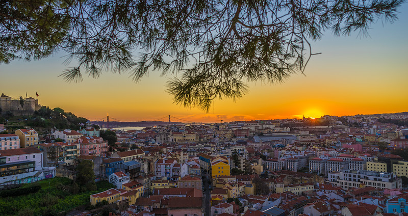 The Special Lisbon Viewpoint at Sunset Photography By Messagez com