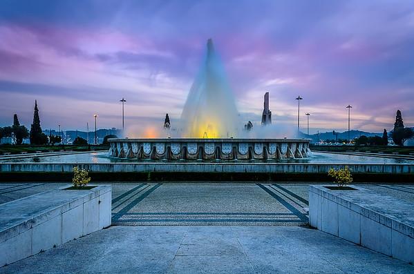 Lisbon Magical Fountain Photograph
