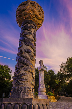 Portugal Buddha Eden Meditation at Sunset Photography 2 By Messagez com