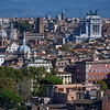 View of Rome from the Janiculum hill (Monte Gianicolo), Rome, Italy