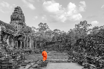 """BLENDING IN"" OR ""STANDING OUT"", ANGKOR WAT, CAMBODIA, 2015"