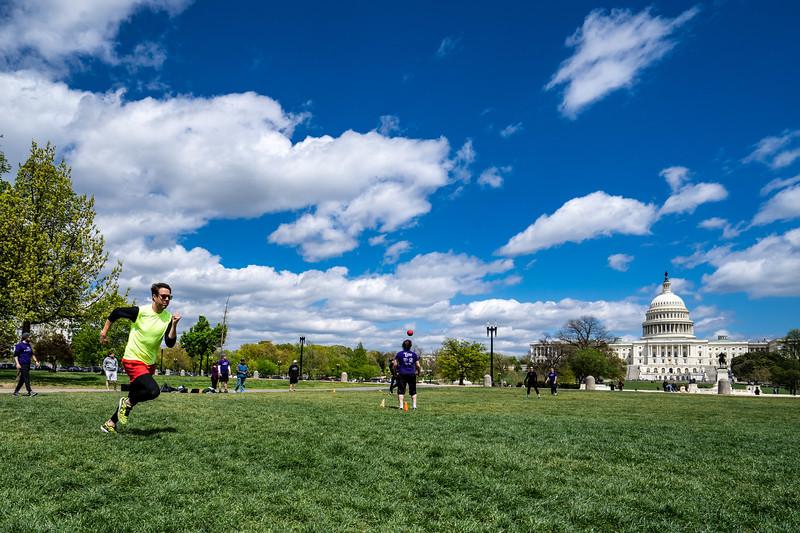 Kickball on the Capital lawn