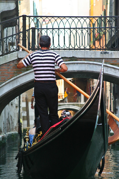 Venice, Italy: Gondola ride through the canals.