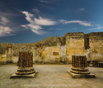 Pompeii Columns & Clouds