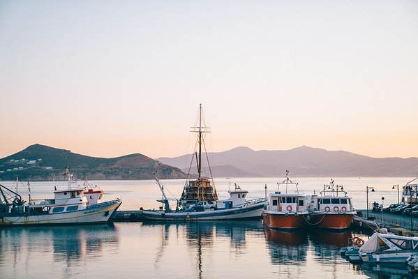 Boats on the marina in Naxos, Greece. A favorite place of mine, and a peaceful moment.