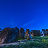 Portugal Cromlech of the Almendres Megalithic Complex Night Photography 11 By Messagez com