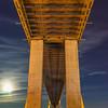 Under Vasco da Gama Bridge Super Moon Photography By Messagez com