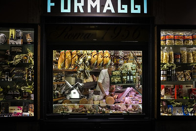 Meat & Cheese Shop - Rome, Italy