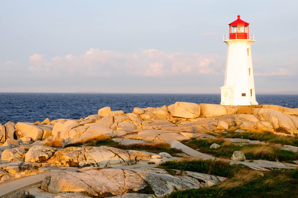 Golden glow on Peggy's Cove