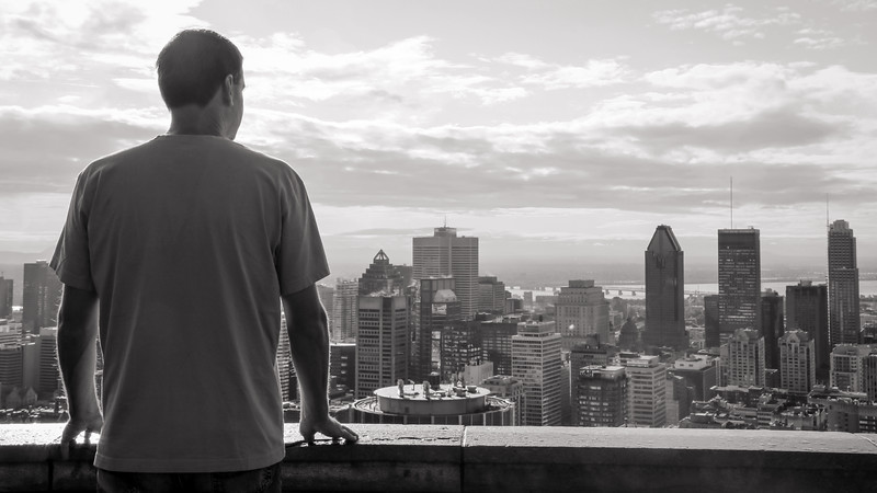 View at the top, Mount Royal, Montreal