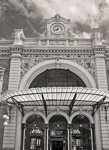 Train Station - Cartagena Spain (BW)