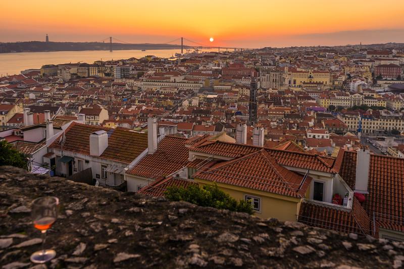 Inside The Lisbon Castle at Sunset Photography 4 By Messagez com