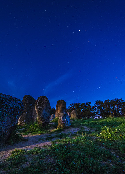 Portugal Cromlech of the Almendres Megalithic Complex Night Photography 6 By Messagez com