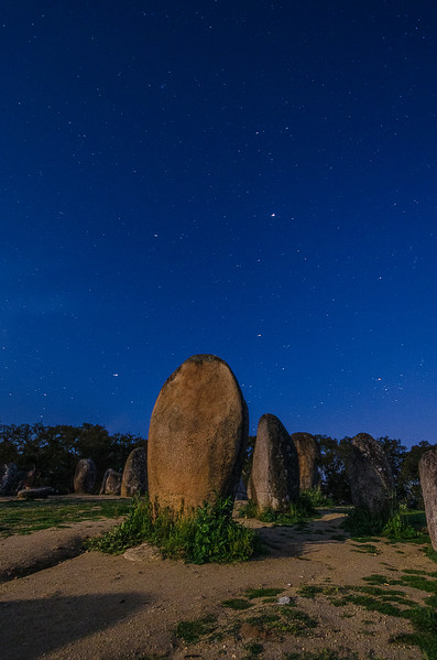 Portugal Cromlech of the Almendres Megalithic Complex Night Photography 3 By Messagez com