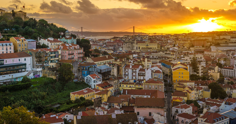 Lisbon Graceland Viewpoint Sunset Photography By Messagez com