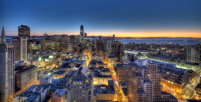 Sunrise over San Francisco