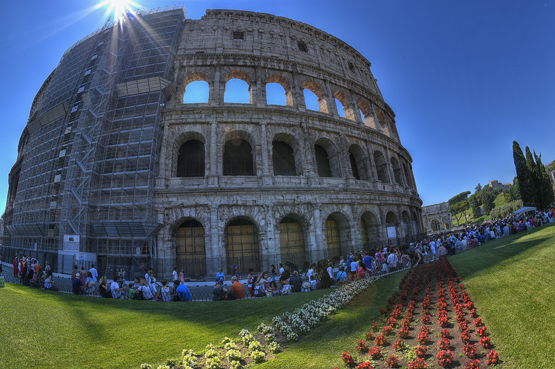 The Colosseum or Coliseum, also known as the Flavian Amphitheatre