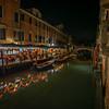 Trattoria da Giorgio at night, Fondamenta San Lorenzo, Venice, Italy
