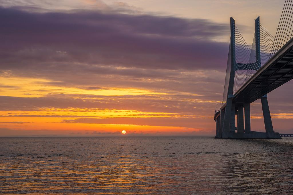 Lisbon Bridge Sunrise Magic Photography By Messagez com