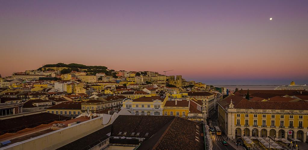 Lisbon Augusta Street Triumphal Arch Viewpoint Sunset Photography 5 By Messagez com