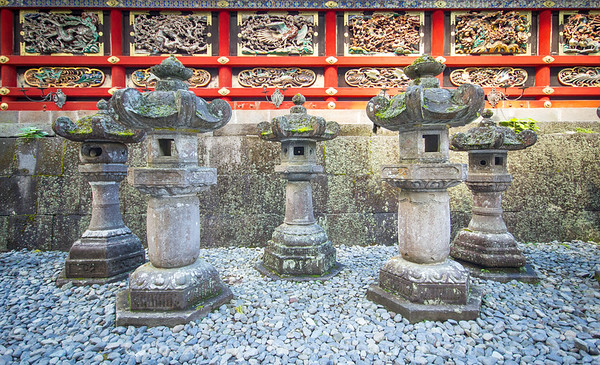 Lanterns at a temple in Nikko
