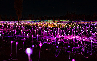 Field of Lights Art installation Uluru NT