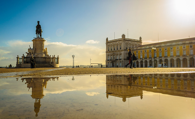 Original Portugal Lisbon City Center Reflection Photography 2 By Messagez com