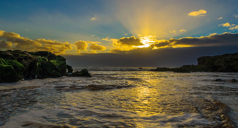 Portugal Beach at Sunset Fine Art Photography 4 by Messagez com
