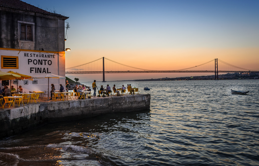 Lisbon Bridge at Sunset