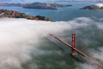Golden Gate Bridge - from air