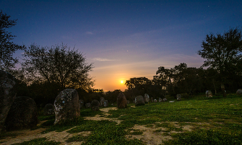 Portugal Cromlech of the Almendres Megalithic Complex Night Photography 8 By Messagez com