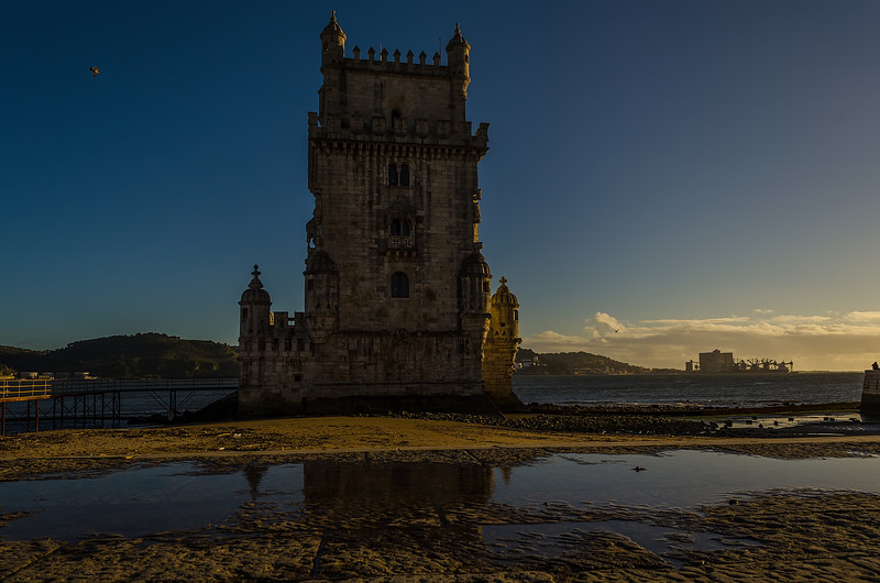 Lisbon Belem Tower Reflection