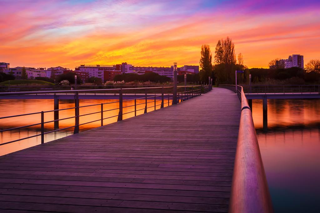 Magic Portugal Lisbon Sunset Reflection Photography By Messagez com