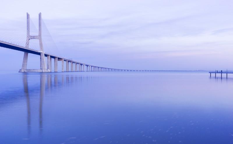 Cold Bridge in Lisbon Photography By Messagez com