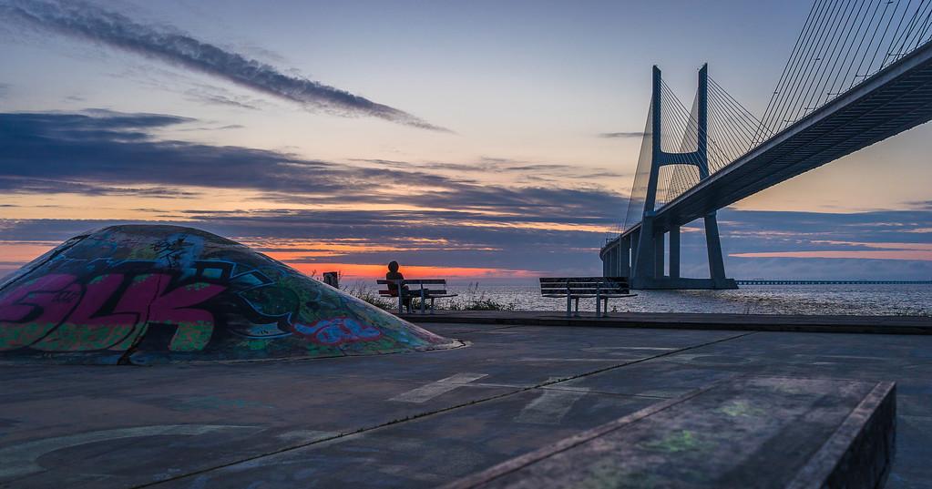 Lisbon Vasco da Gama Bridge at Sunrise Photography By Messagez com