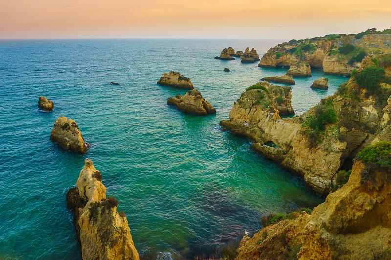 Portugal Algarve Golden Rock Boats Photography 3 By Messagez com