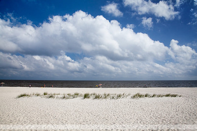 The Gulf Coast from the Mississippi shore. This is an early summer image taken in Biloxi.