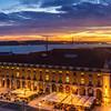 Amazing Lisbon Landscape Light Flow at Sunset Photography By Messagez com