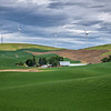 Wind Turbine farm near Palouse, Eastern Washington