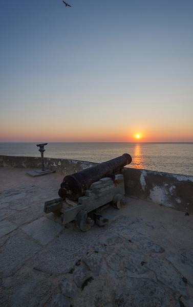 Sagres Canon at Amazing Sunset