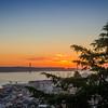 Lisbon Castle View Sunset Photography By Messagez com