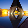 Lisbon Monument Night Reflection Fine Art Photography By Messagez com